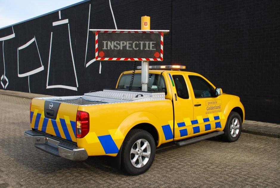 Speciale inrichting laadbak pick-up provincie gelderland