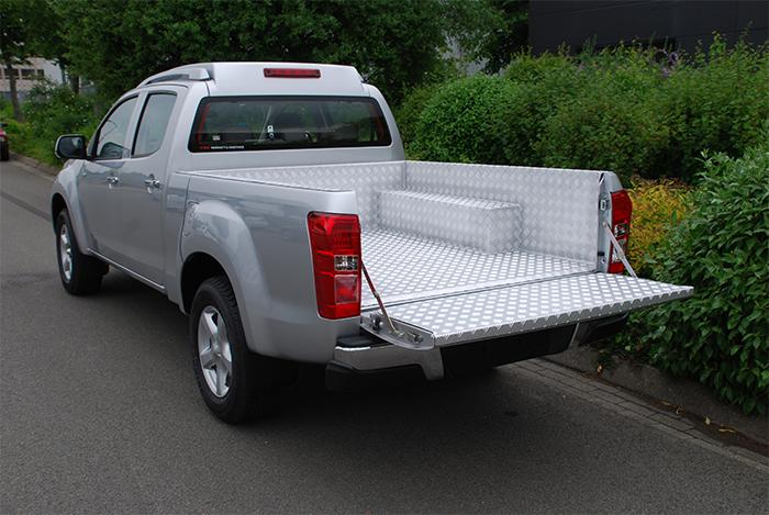 pick up accessoires aluminium traanplaat laadbak
