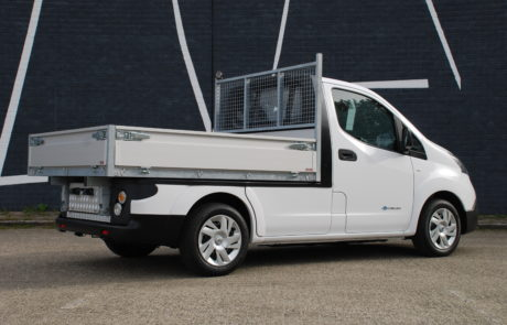 Chassis aanpassingen Nissan e-NV200 pick-up open laadbak detail
